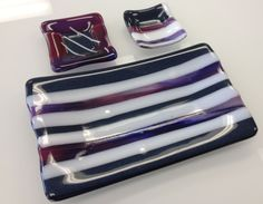 Fused Glass - sushi set --Glassateria