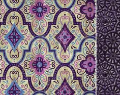 Moorish pattern and blue mosaic coordinate by designer Linda Webb.