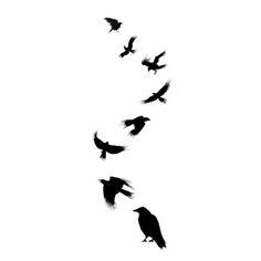 Tatuaje cuervo volando 2