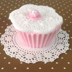 Cupcake de jabón glicerina
