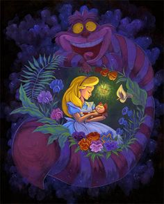 *ALICE, DINAH & THE CHESHIRE CAT ~ Alice in Wonderland
