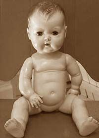 Tiny Tears Doll.  I had one .....loved her.  She would wet her diaper....