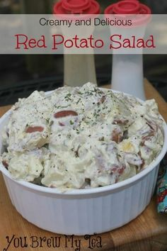 Delicious, creamy, and full of flavors this red potato salad will be a hit at any barbecue, picnic, or family get together.