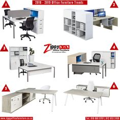 2018 - 2019 Office Desks Trends... Available at Zippy Office Furniture. Call 010 060 9787 To Place Order Now!