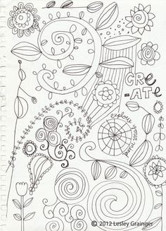 Doodle Friday. http://lesleygraingerdesign.blogspot.com/