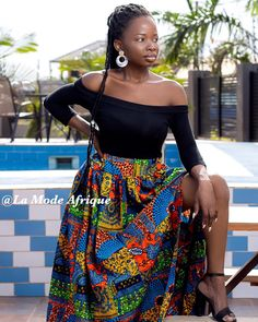 Side slit Maxi skirt  ___________________________ 🔸Visit our website  www.lamodeafrique.com 🔸Link in bio 📣 🔸WE DO WHOLESALE  _________________________________ WhatsApp +233243287843 or DM 🔴Yes we customize 📸 Photo credit @qouphyjohnsonpictures  _______________________________  #africanwear #ankara  #readytowear  #swimwear #africanprint #africanstyle #Ankarastyles #ankarastyle  #africanprint #africanprints #africanwear #dress #skirt  #ghanamade #madeinghana #ankaradress… African Print Dresses, African Wear, African Fashion, Ankara Dress, Dress Skirt, Ankara Styles, Photo Credit, High Waisted Skirt, Ready To Wear