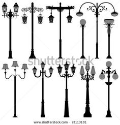 Stock Images similar to ID 153342515 - street lamps