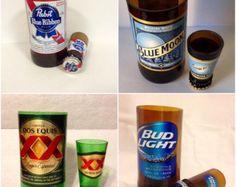 Bandiera americana birra bottiglia di RandomCraftsBySundee su Etsy