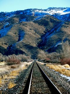 Railroad tracks in Montana- great for engagement photos