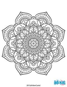 Dibujo para colorear : Mandala Vintage: