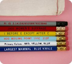 Know It All No. 2 Pencil Set. $11.00, via Etsy.
