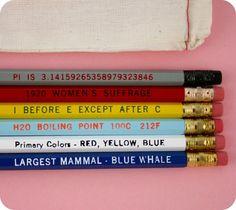 Know It All No. 2 Pencil Set. $11.00, via Etsy.