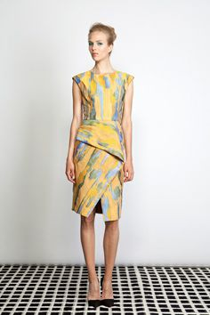 Lela Rose Resort 2014 Collection Slideshow on Style.com - Abstract Expressionism