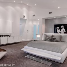 Master Bedroom - modern - bedroom - los angeles - Denise Richards