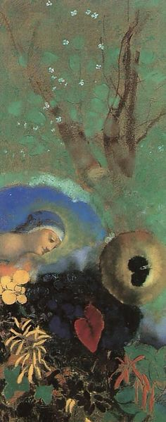 Odilon Redon(1840ー1916 French)「Homage to Leonardo da Vinci」(c.1908)