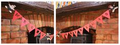 Christmas Bunting Banner with 3 wooden gingerbreads by CutOutsMK