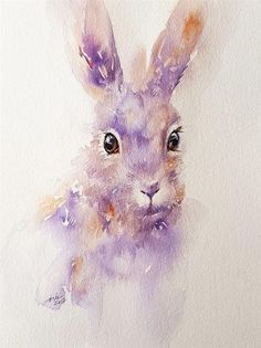"""Lilac the Bunny"" original fine art by Arti Chauhan"
