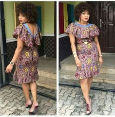 The complete pictures of latest ankara short gown styles of 2018 you've been searching for. These short ankara gown styles of 2018 are beautiful African Dresses For Women, African Print Dresses, African Attire, African Wear, African Women, African Prints, African Style, African Clothes, African Fashion Ankara