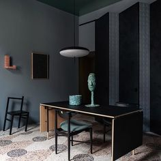More from the 2019 Milan furniture fair, including an Anton Alvarez show in a c. church, and a classic Milanese patisserie redux by Cristina Celestino. Design Creation, Milan Furniture, Furniture Board, Furniture Design, Terrazzo Flooring, Milan Design, Living Room With Fireplace, White Tiles, Apartment Interior