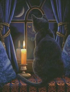Midnight Vigil - Painting by Lisa Parker. Chart design by Michele Sayetta for Heaven and Earth Designs.