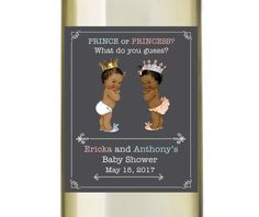 Baby Shower Wine Labels  Personalized Baby by AnnounceItFavors