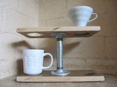 Double Industrial Pour Over Brewstand by BrewStation on Etsy, $76.00