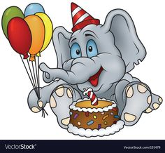Elephant Cartoon Images, Elephant Pictures, Cartoon Pics, Cartoon Picture, Cartoon Clip, Hd Happy Birthday Images, Happy Birthday Greetings, Birthday Cartoon, Funny Birthday Cards