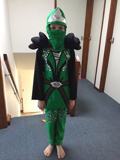Lloyd the Green Ninja costume from Lego Ninjago. I made this costume out of dance lycras and a bit of wadding, for my sons 9th birthday :)
