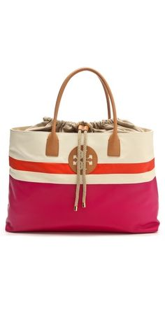 Tory Burch Dipped Drawstring Beach Tote #r29summerstyle
