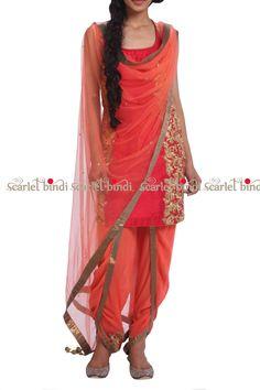 Manika Nanda Dhoti Pant Suit Only On Scarlet Bindi Punjabi Dress, Pakistani Dresses, Indian Dresses, Indian Outfits, Punjabi Suits, Fashion In, Ethnic Fashion, Asian Fashion, Churidar