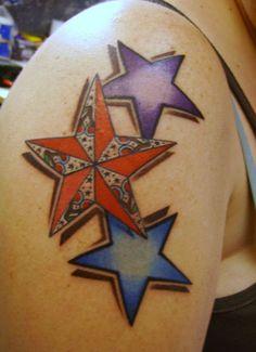 1000 images about mejores tatuajes de estrellas on for Disenos de estrellas