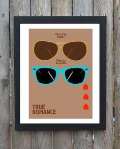 True Romance minimal minimalist movie film print poster via Etsy True Romance, Romance Movies, Christian Slater, Elements Of Style, Poster Prints, Art Prints, Love Movie, Quentin Tarantino, Minimalist Poster
