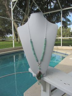 Abalone With Amazonite And Sterling Silver by JKCustomDesigns