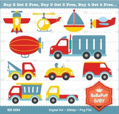 Toy Cars Set 1 ---- Clip Art ---- Personal and Small Commercial Use ---- BB 0094