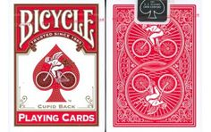 Bicycle Cupid Back Playing Cards in Red. #playingcards #poker #Games #Magic