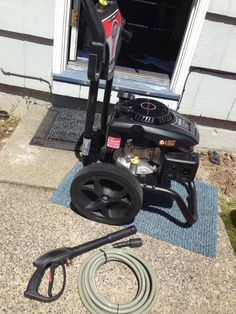 What have I gotten myself into...Simpson pressure washer from Home Depot. Can't return gas powered stuff to Amazon.