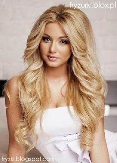 fryzury ślubne długie włosy loki - Szukaj w Google