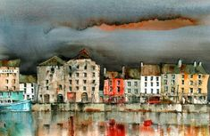 Val Byrne- Irish Artists-New Ross, Quays, Wexford