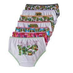 Teenage Mutant Ninja Turtles 7-pk. Hipster Panties - Girls 4-8, Girl's, Size: