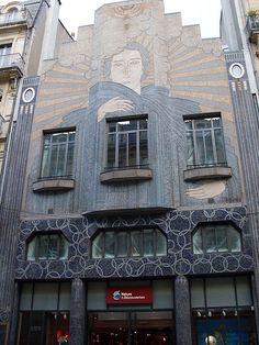 """Art Deco Facade, Toulouse ~/rue Alsace lorraine  (ancien bâtiment de la """"DÉPÊCHE"""")"""