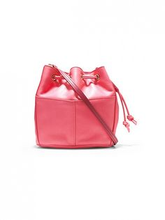 Cole Haan Felicity Mini Drawstring Bag in Hot Pink