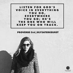 """Listen for God's voice in everything you do, everywhere you go - he's the one who will keep you on track."" Proverbs 3:6 (MSG) // Sometimes, the ""big step"" God wants us to take is small. Learn more about walking in faith from today's devotion."