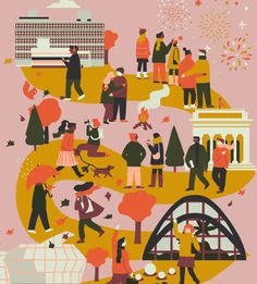City Prints created for Lagom Design (made into prints and postcards)