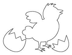 Easter chick pattern. Use the printable outline for crafts, creating stencils, scrapbooking, and more. Free PDF template to download and print at http://patternuniverse.com/download/easter-chick-pattern/