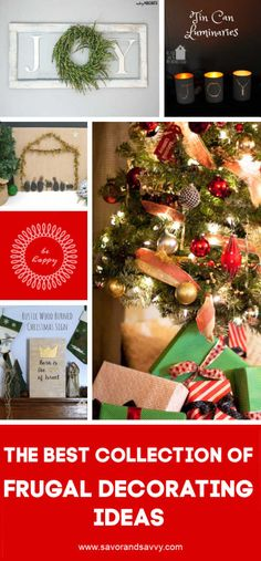Christmas Decorating Ideas on a Budget Tips, Tricks and Elegant examples of frugal decorating for Christmas. Check out these inexpensive ideas to make your holiday decor super FUN! Cork Christmas Trees, Driftwood Christmas Tree, Christmas Baubles, Christmas Signs, All Things Christmas, Handmade Christmas, Christmas Wreaths, Christmas Crafts, Christmas Ideas