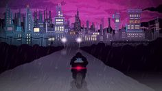 Valenberg's signature purple style of cyberpunk comes to life in animations for musician Amplitude Problem's YouTube videos.