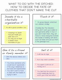 What To Do With The Ditched: How to decide the fate of clothes that don't make the cut (from my series Closet Week)