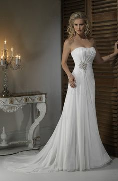 Modern Chiffon Sheath Sleeveless Lace up Beach Bridal Gown