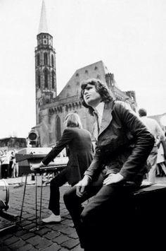 Jim Morrison and Ray Manzerak at the keyboard.