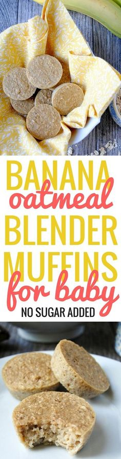 Banana Oatmeal Blender Muffins for Baby